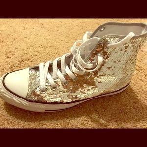 Gently worn twice gorgeous glitter sneakers